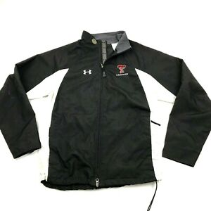 Under Artmour Texas Tech Red Raiders Tennis Jacket Size M Windbreaker Tail Flap