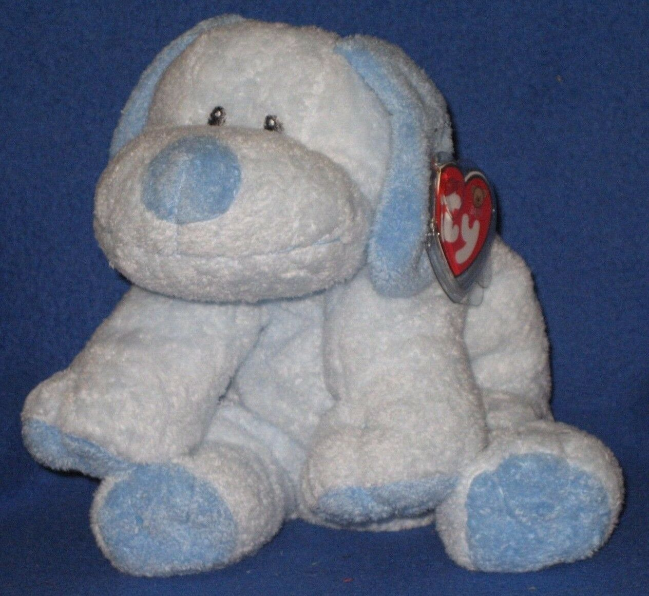 BABY WHIFFER (blueE) THE DOG - BABY TY - MINT with MINT TAGS