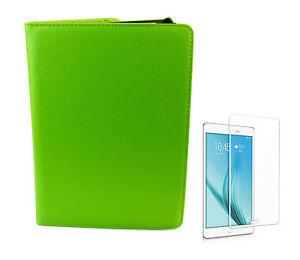 2in1-Set-Tasche-gruen-Glasfolie-fuer-Samsung-Galaxy-Tab-3-Lite-7-0-Zoll-T110