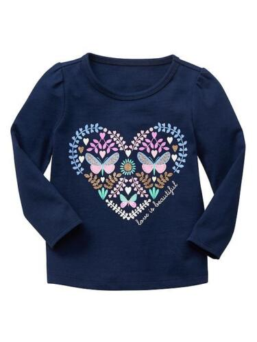New Playtime favorite Baby Gap Infant toddler Girls graphic Logo Long sleeve Tee