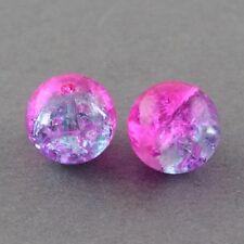 50 x Magento Crackle Glass Round Beads - 10mm - LB1211