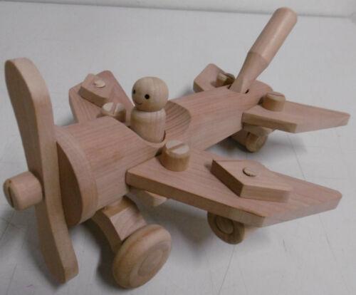 Spielzeug Holzspielzeug Flugzeug Holzflugzeug zerlegbar Kinderspielzeug 19 Teile Geschenk