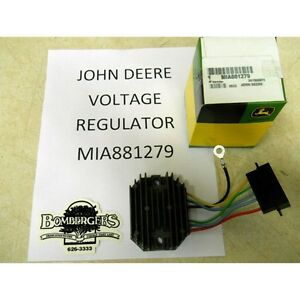 john deere voltage regulator for f f image is loading john deere voltage regulator for 870 970 990