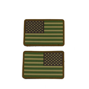 pair of pvc subdued colors american flag morale patches w hook loop backing ebay ebay