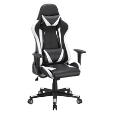 New Listingsmilemart Executive Adjustable High Back Faux Leather Swivel Gaming Chair Black