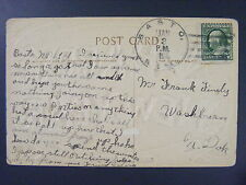 Basto North Dakota ND McLean County 1911 4-Bar Cancel  Postcard DPO 1901-1912