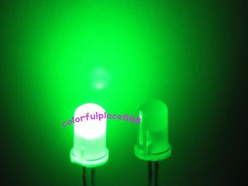 1000pcs 5mm Green Diffused Round Top Bright 5K MCD LED Leds Light Free Shipping