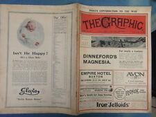 WWI WAR GUERRE 14/18 : revue THE GRAPHIC 1916 Nr 2430 (adv. ROYAL VINOLIA)