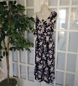 94496848d8f4 Image is loading Xhilaration-Floral-Capri-Flare-Leg-Romper-Body-Suit-