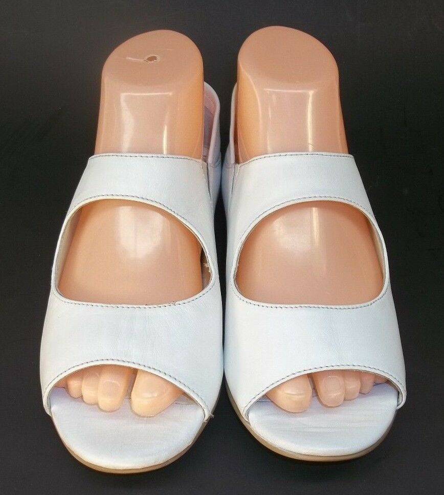 Seychelles Wos US7 blanc Leather Slip-On Open Toe Toe Toe Casual Flat chaussures New 3757 dbe8a5