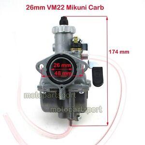 26mm Mikuni VM22 Carby Carburetor Air Filter  110 125 140cc Dirt Bike Pit KLX XR