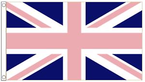 Rainbow LGBTQ Gay Pride Pink and Blue Union Jack 5/'x3/' Flag