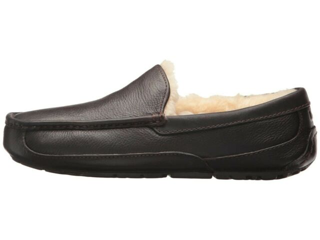 UGG Men's ASCOT LEATHER Casual Comfort Slipper Loafers CHINA TEA 5379