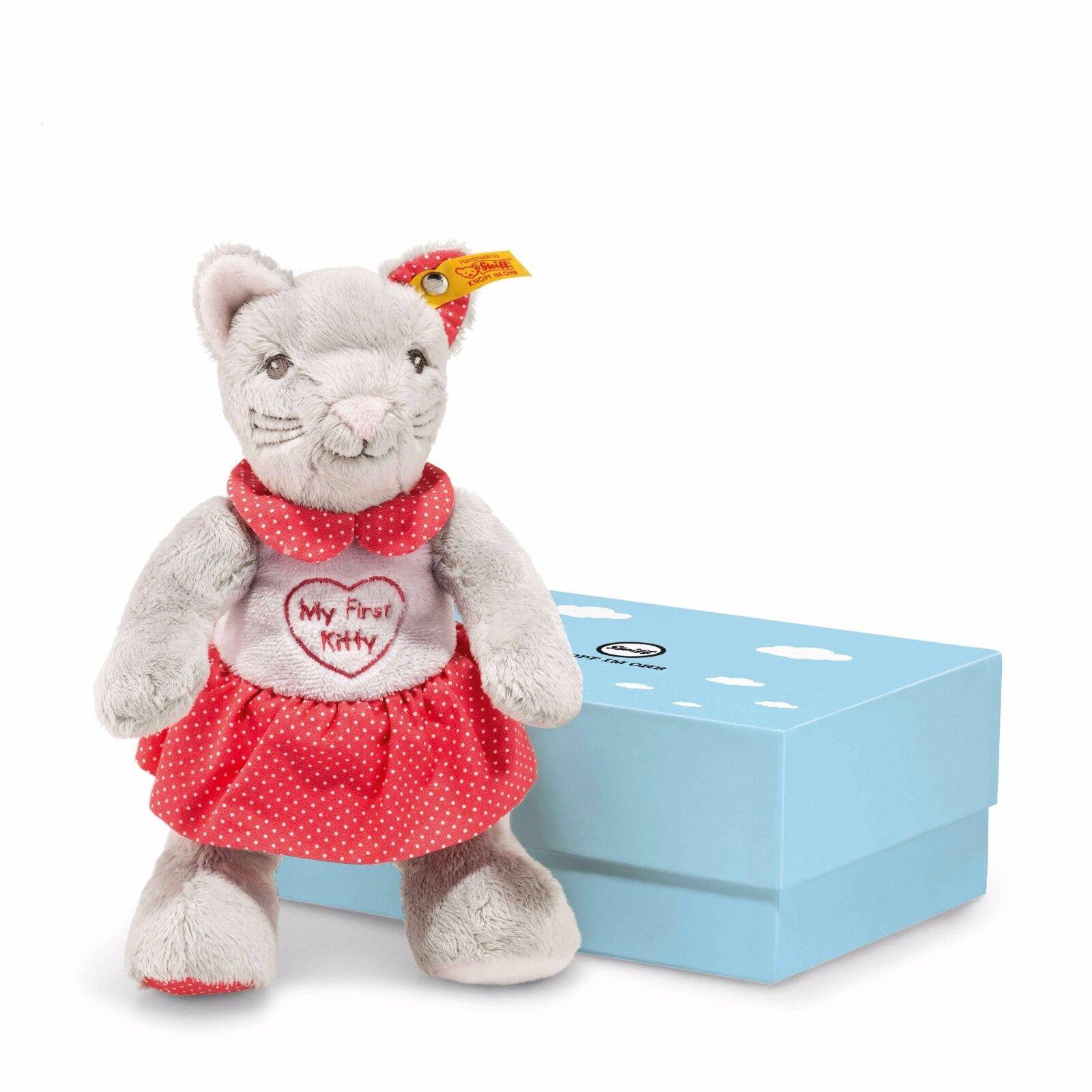 Steiff Steiff Steiff My first Steiff Katze mit Knisterfolie 23 cm in Geschenkbox e77550