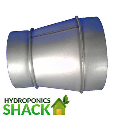 "Hydroponics Duct Connector Ventilation Extractor Fan Reducer 12/"" To 6/"" UK"