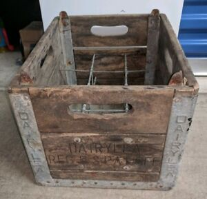 Details About Vintage Old Dairylea Wooden Wood Milk Crate Box Ny New York Dairymens League
