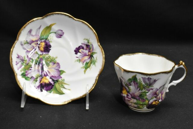 Salisbury England Bone China Orchid 2354 Cup & Saucer