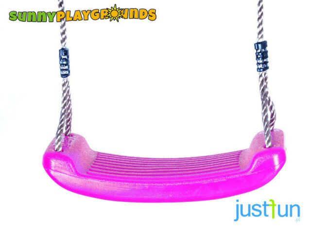 Swing Seat Pink Plastic Set With Rope Accessories Playground Outdoor