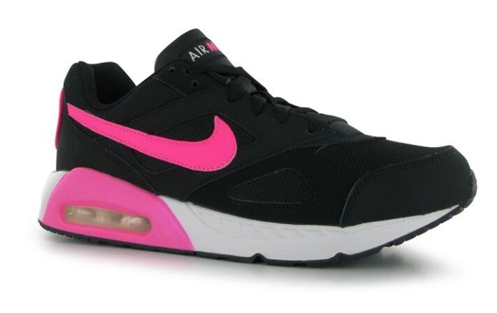 Nike Air Max Trax Ivo fonctionnement POUR FEMMES CHAUSSURE NOIRE ROSE BLANC TAILLE 36,
