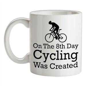 Sur-8th-Jour-Cyclisme-Anciennement-Cree-Ceramique-Tasse-Cycle-Velo-Velo