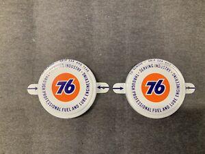 Vintage UNION 76 Oil Drum Cap Seal 2 3/4 - Lot of 2