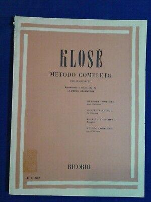 Klosé Metodo completo per clarinetto