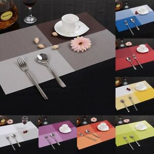PVC-Dining-Table-Placemat-Tableware-Pad-Coaster-Coffee-Place-Mat-Kitchen-gt