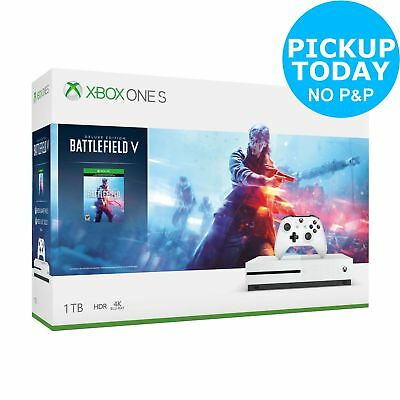 Xbox One S Console & Battlefield V Bundle - White.