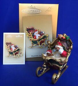 Plotting-The-Course-Santa-in-Sleigh-Telescope-Club-Exclusive-Hallmark-Ornament