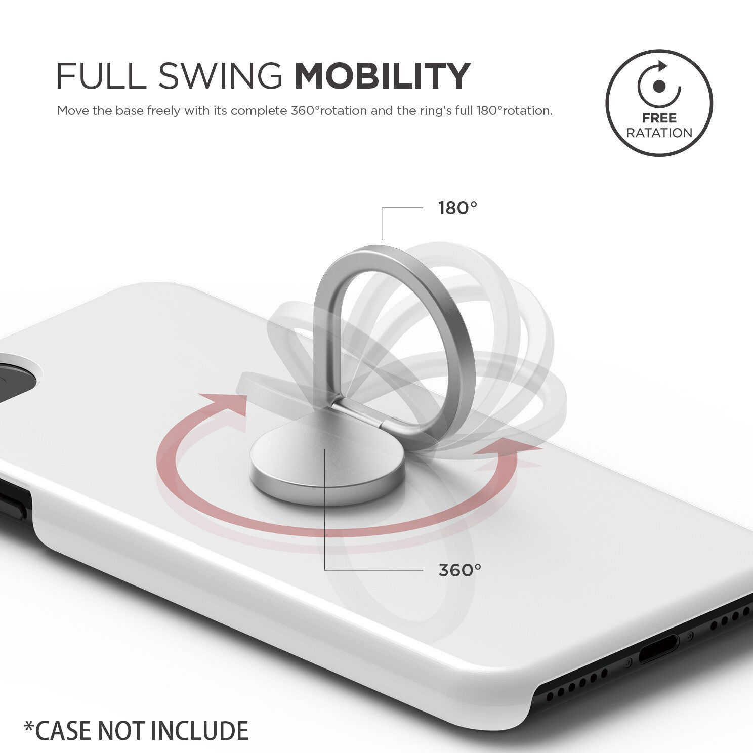 Universal Drop Iring Mobile Phone Stand Rotating Finger Ring Smart Luxury Crystal Silver Made By Aluminum