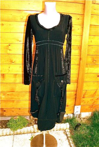 Mc Planet Dress Long Sleeves Black T 38 New Label Top Range