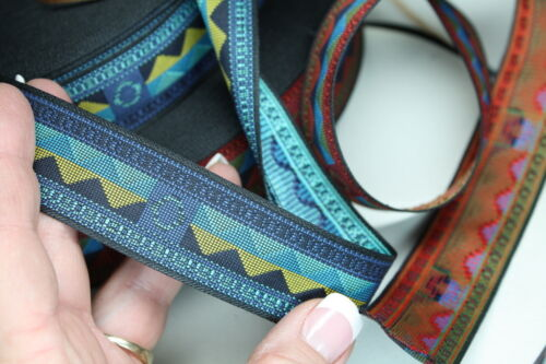 Woven Trim Native Blue Mountains 1 1//8 inch wide by the yard