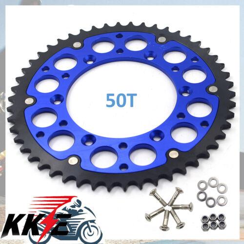 50T BLUE REAR HYBRID SPROCKET FIT SUZUKI RM125 RM250 1998-2008 DRZ400SM RMZ450