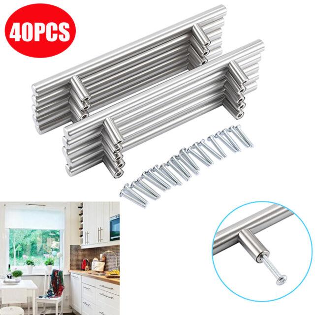40 Stainless Steel Kitchen Cabinet Door Knob T Bar Cupboard Drawer