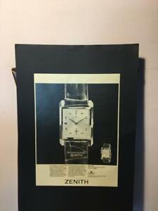 Pubblicità originale orologio Zenith anni '60 da rivista in passepartout