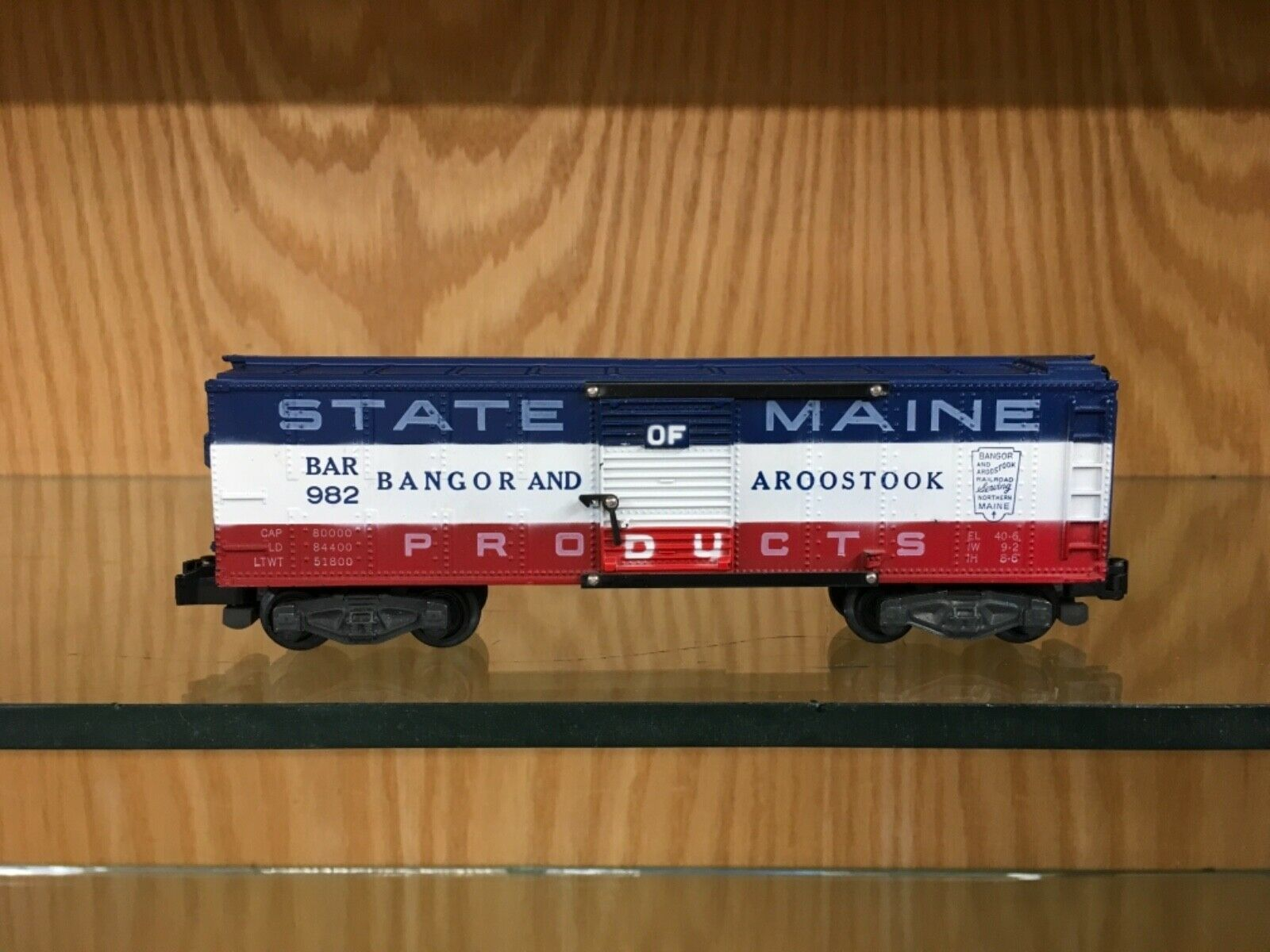"American Flyer S Gauge 982 ""State of Maine"" Boxcar 1956-7 - LN"