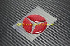 RED Carbon Steering Wheel Emblem Decal For Mercedes A C E S CLA GLA ML 63 45 AMG