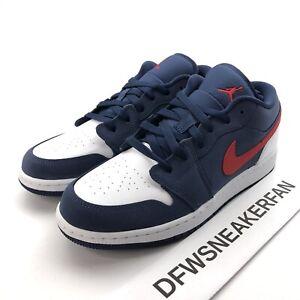 Details about Nike Air Jordan 1 Low SE USA GS Size 5.5Y / Women's 7 CV9844  400 New