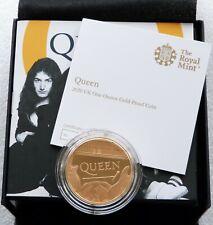 2020 Great Britain Music Legends Queen £100 Gold Proof 1oz Coin Box Coa