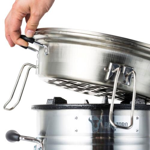 BBQ-Toro Grillplatte Grillrost Set für Raketenofen Ø 33 cm Edelstahl Gusseisen