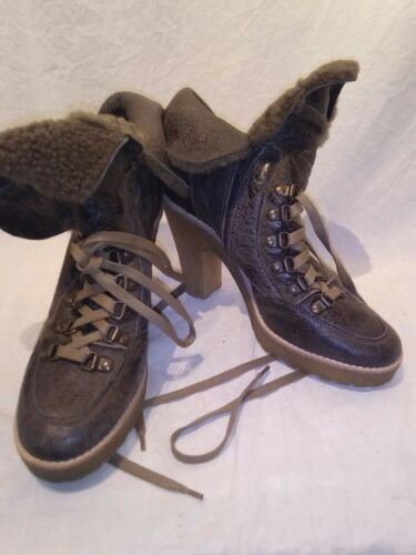 Brown Ref 5 Ap01 Uk Bertie Ladies Boots Platform Sheepskin qaWZ16C