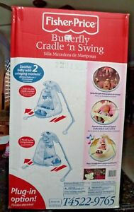 Details About Fisher Price Butterfly Cradle N Swing T4522 New