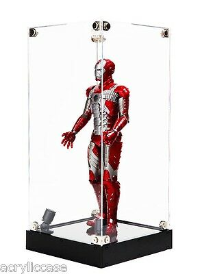 LED spotlight Acrylic Display Case, 12 inch figure, 1/6 scale, Robot,Collectible