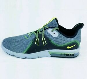 cheap for discount b87eb 891ee Image is loading Nike-Air-Max-Sequent-3-Black-Grey-Running-