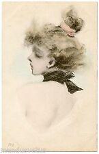 """a/s HENRI BOUTET. JOLIE FEMME. BEAUTIFUL WOMAN. N° 108. Série """"Têtes de femmes"""""""