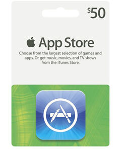 Details about iTunes $50 Gift Card/Certificate US Store for App Store Fast  Ship