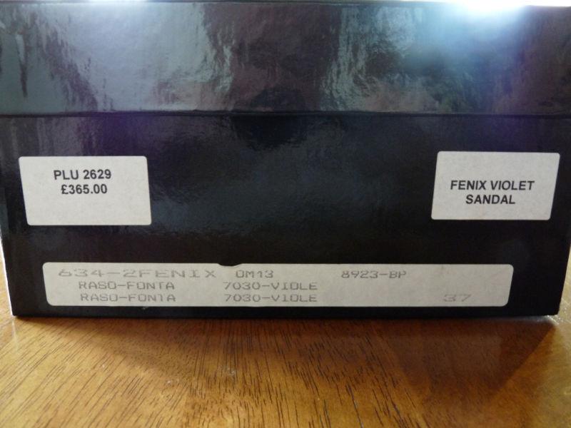 OLIVIA MORRIS FENIX  RASO PURPLE SANDALS   FENIX  EUR 37  UK 4        BNIB a8a691