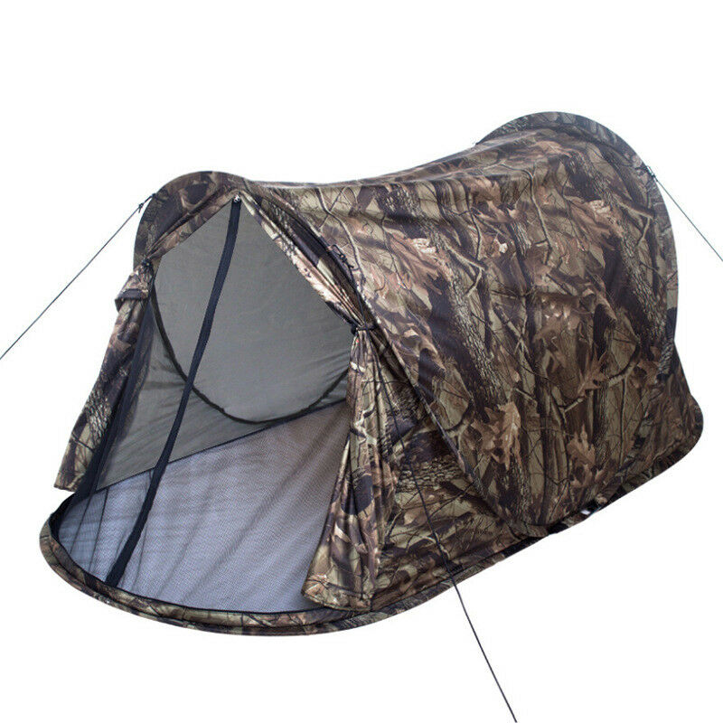 1-2 Person Camouflage Tent Ultralight Single Layer Water Resistance Camping Tent