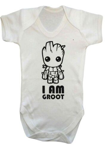BAMBINO,RAGAZZA I AM GROOT,Guardiani BODY,TUTINA,tutina bambino CLOTHES.comic