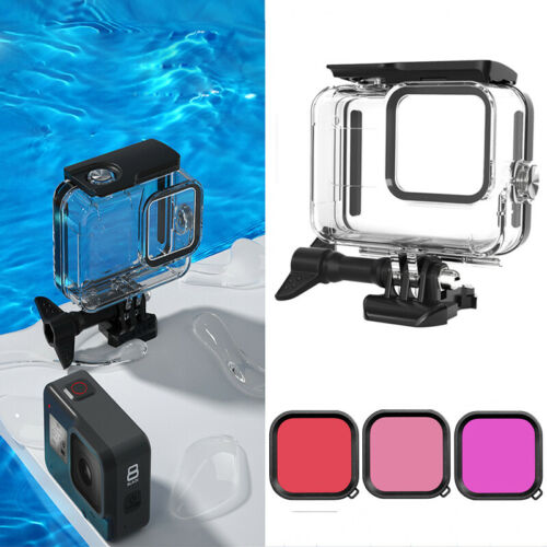 60M Diving Waterproof Housing Protective Cover with Filter Kit For GoPro Hero 8